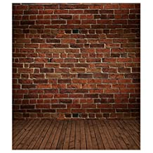 SODIAL(R) 3x5ft Vinyl Photography Background Brick Wood Wall Floor Backdrops Studio Props