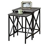 Pemberly Row 2 Piece Nesting End Table Set in Gray