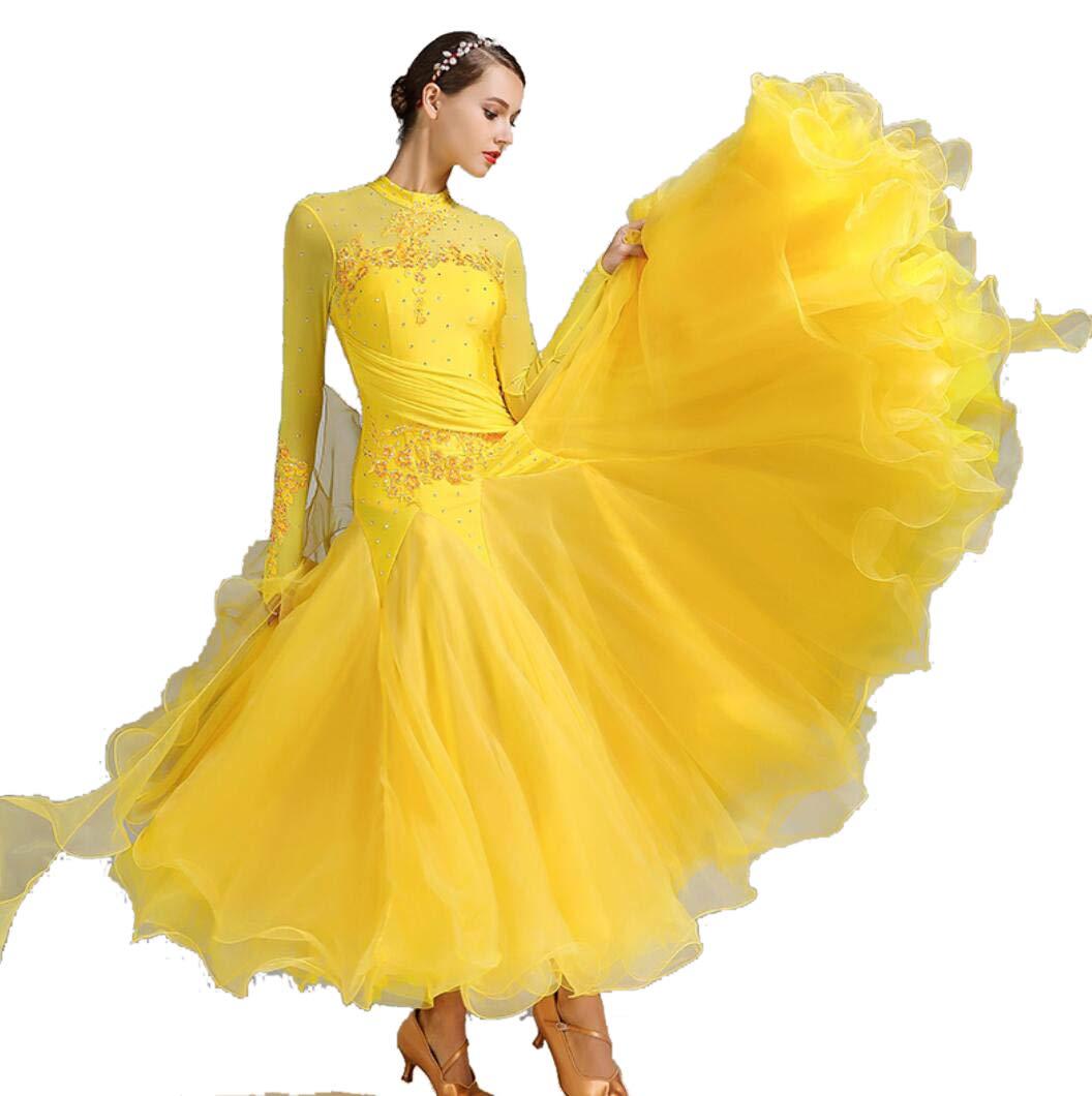 H XL SMACO Femmes Modernes Valse Tango Danse VêteHommests Standard Robes de Concours de Danse de Salon