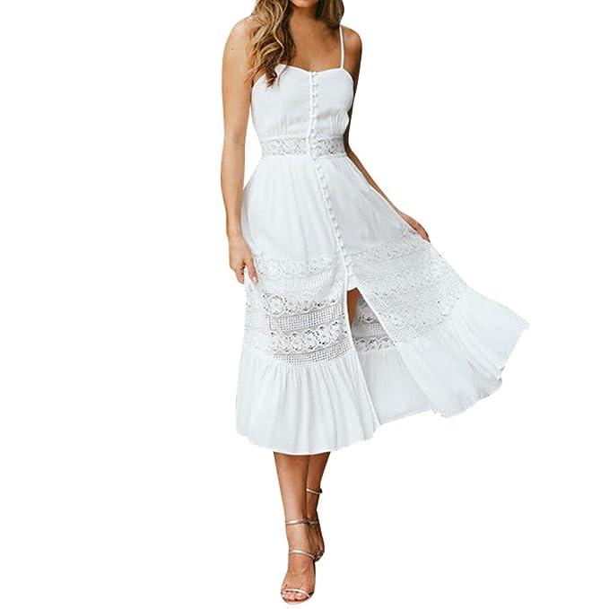 buy popular 692e2 2251a Weant Abiti Lunghi Estivi Donna, Abito Vestito Donna Gonna ...