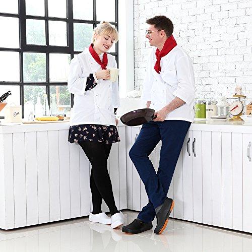 STICO Chef Kitchen Slip Resistant Safety Men's Schuhes Clog, 5 US Größe 5 Clog, 11 069857