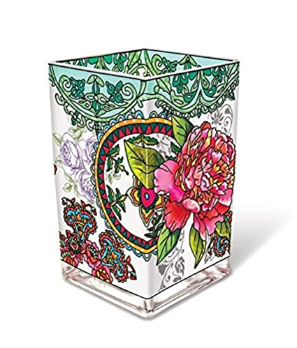 Amazon Amia 42008 Hand Painted Glass Vase With Peony Floral