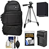Fujifilm 100D Digital Camera Travel Sling Backpack Case with NP-W126 Battery & Charger + Tripod Kit for X-Pro2, X-A2, X-A3, A10, X-E2S, X-T1, T2, T10, T20