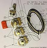 TAOT Wiring Kit - Fender Jazz Bass j-Bass - Solid Shaft - Orange Drop Cap