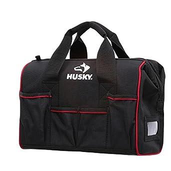Amazon.com: Husky 14 en L x 6 en W x 11 in H boca Bolsa ...