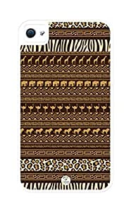 iZERCASE Africa Pattern Rugged Premium For Apple Iphone 5/5S Case Cover - Fits For Apple Iphone 5/5S Case Cover S T-Mobile, AT&T, Sprint, Verizon and International (White)