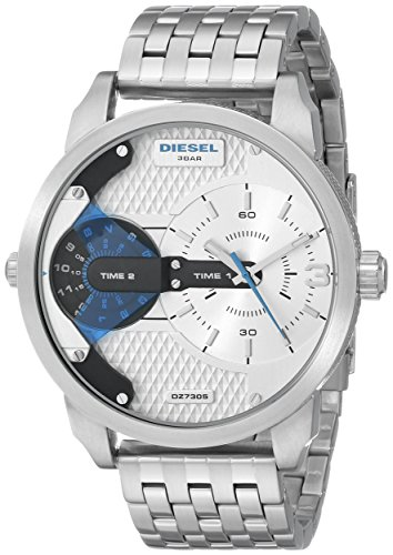 Diesel Men's DZ7305 Mini Daddy Silver-Tone Watch