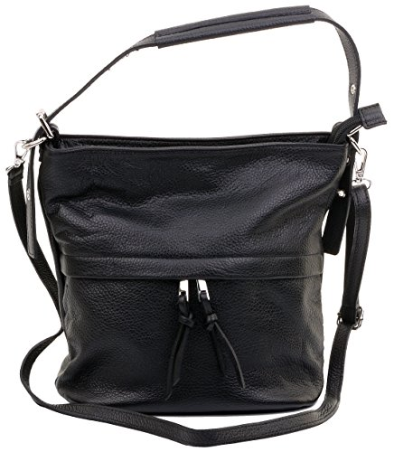Shoulder Handbag Italian Cross Bag Storage Sacchi Includes Primo Black Body Protective Branded Grab A Leather Textured 1zTIwnHq