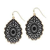 Product review for Pomina Coated Filigree Floral Drop Earrings for Women