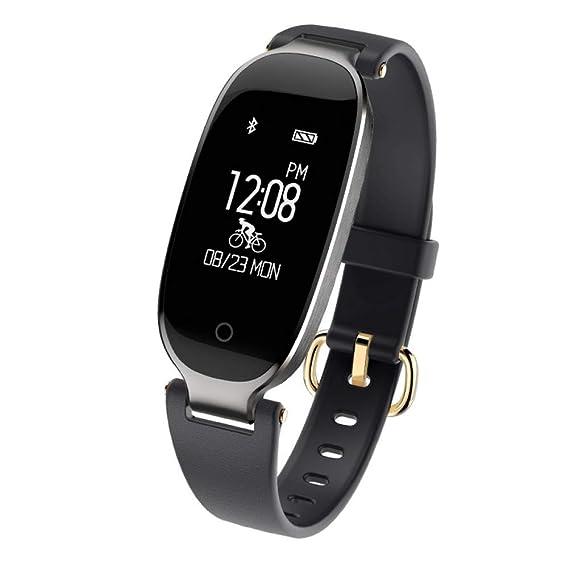 SZPZC Reloj Inteligente Smartwatch Moda Mujer Damas Ritmo Cardíaco ...