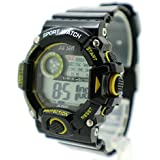 BestTime Sport Digital Watch Yellow/Black Color Rubber Strap Gifs For Boys & Girls