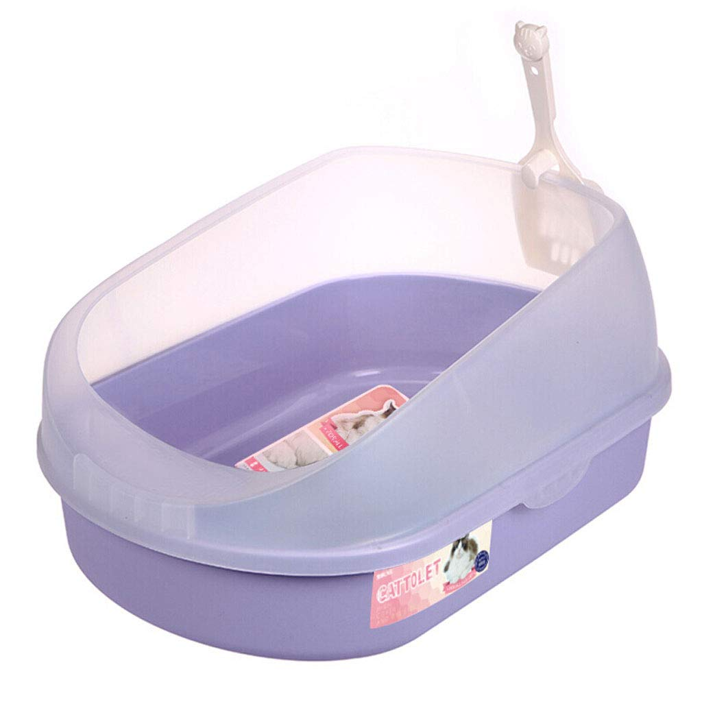 Purple Semi-closed Litter Box Cat Toilet Cat Pot Deodorant Anti-splash Pet Supplies