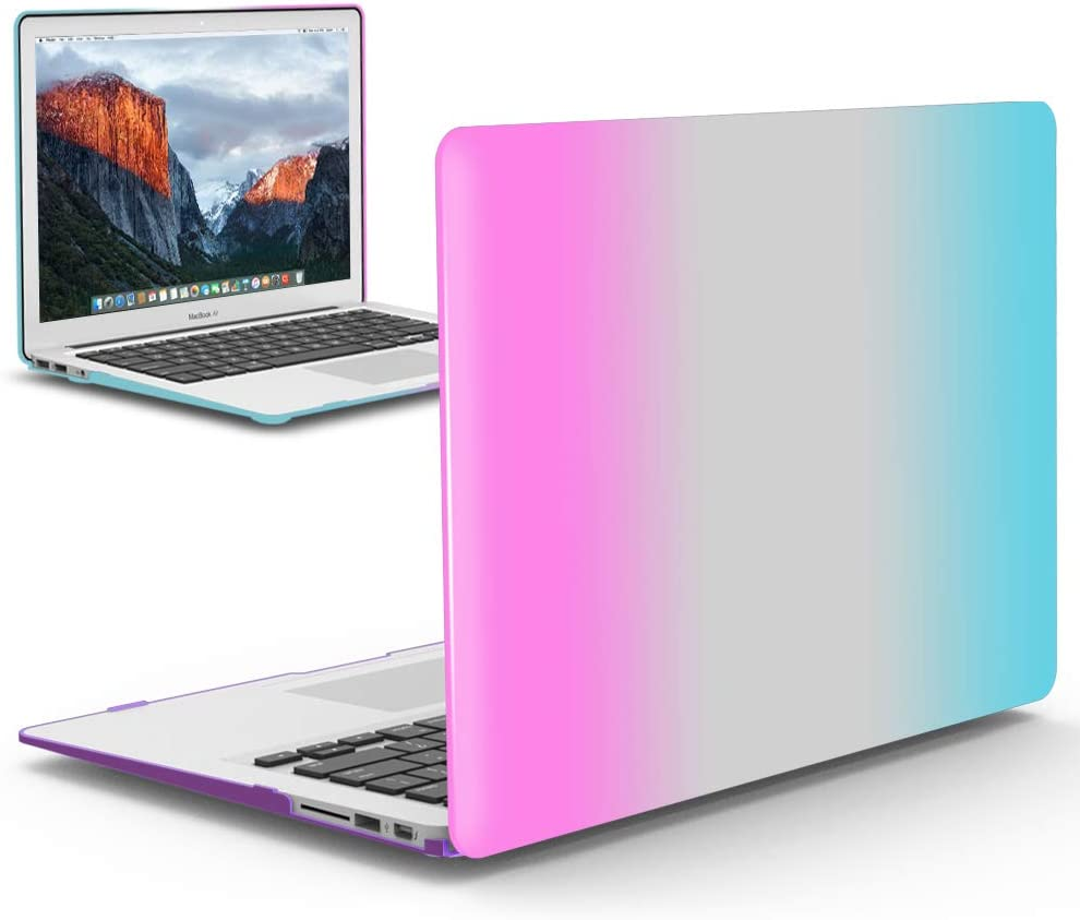 IBENZER MacBook Pro 15 Inch Case, Soft Touch Hard Case Shell Cover for Apple MacBook Pro 15 with Retina Display A398, Rainbow, MMP15R-RB+1