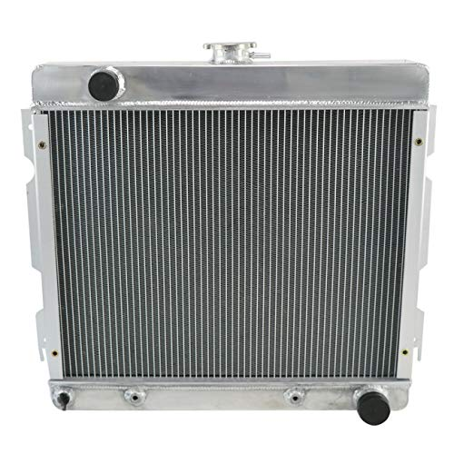 CoolingCare 2 Row Aluminum Radiator for Dodge Dart Plymouth Duster Valiant V8 1970 1971 1972