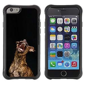 ZETECH CASES / Apple Iphone 6 / AUSTRALIAN CATTLE DOG YAWN TEETH / Australiano ganado perro bostezo dientes / Robusto Caso Carcaso Billetera Shell Armor Funda Case Cover Slim Armor
