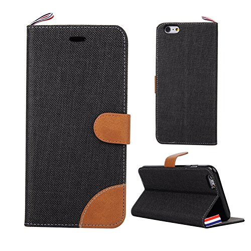 Leather Case Cover Custodia per Apple iPhone 6/6S(4.7 Zoll) ,Ecoway Caso / copertura / telefono / involucro del modello con a Bookstyle tasche carte di credito funzione con interno morbido in TPU Port
