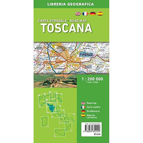 Stradale Cartina Geografica Toscana.Amazon It Carta Stradale Della Toscana 1 200 000 Libri