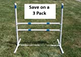 3 Pack of Agility Gear Training Jumps - Two 30'' Striped Bars on each Jump