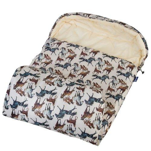 Wildkin Horse Dreams Stay Warm Outdoor Sleeping Bag, One Size, Outdoor Stuffs