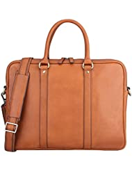 Banuce Full Grain Leather Briefcase for Men Tote Messenger Laptop Bag Attache Case