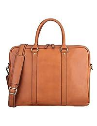 Banuce Vintage Leather Tote Briefcase for Men Business Messenger 14 inch Laptop Bag