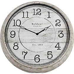 Baldauf Clock Co. Analog Round Indoor Wall Clock