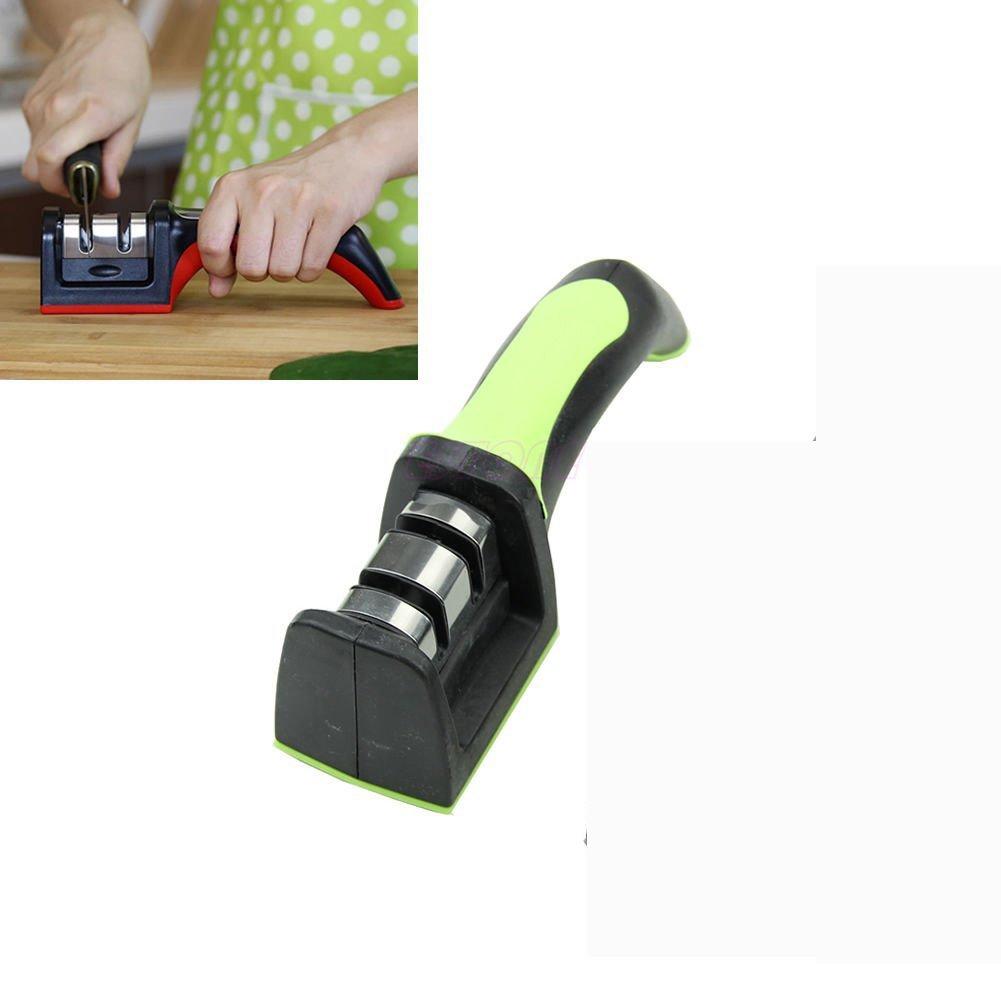 KingNew Knife Sharpner Kitchen,Knives Scissors Professional Blade Sharp Tool(Green)
