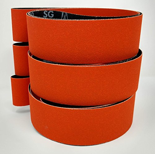 "3 Belts 2/"" x 72/"" Ceramic Fast Cut 36 Grit  Sanding Belts"
