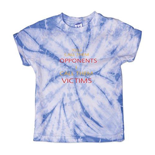 Call Tie Dye T-shirt (You Call them Opponents I Call them Victims Soccer Baby Kid 100% Cotton Tie Dye Fine Jersey T-Shirt Tee - Carolina Blue, 3T)