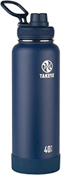 Takeya Insulated Stainless Steel Water Bottle With Spout Lid 40 Oz