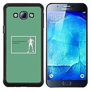 LECELL--Funda protectora / Cubierta / Piel For Samsung Galaxy A8 A8000 -- Trío Cita divertida Arte Vida Sexual Gente --