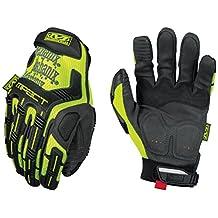 Mechanix Wear - Hi-Viz M-Pact Gloves (Large, Fluorescent Yellow)