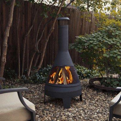 Amazon Com Steel Camber Chiminea Garden Outdoor