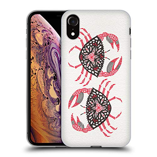 Official Cat Coquillette Pink Crab Sea Soft Gel Case for iPhone XR