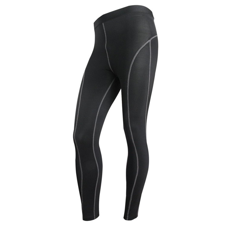 YiJee Herren Running Lange Hose Tights mit Kompressionswirkung und Quick-Dry-Funktion