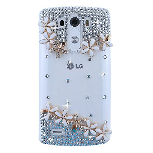 LG G Flex 2 Bling Case - Fairy Art Luxury 3D Sparkle Series Flowers Floral Crystal Design Back Cover with Soft Wallet Purse Red Cloth Pouch - - Sunglasses D&g 2015
