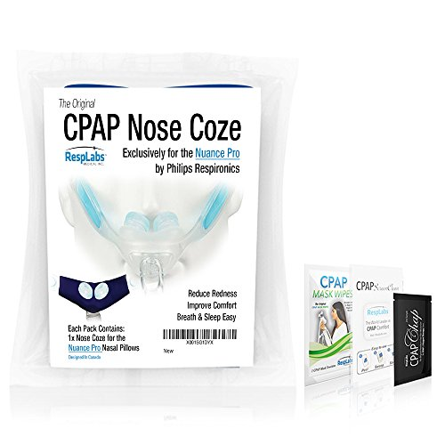 RespLabs CPAP Mask Liners — The Original Nose Coze, Compatible with Respironics Nuance Pro Nasal Pillow System by RespLabs Medical Inc.