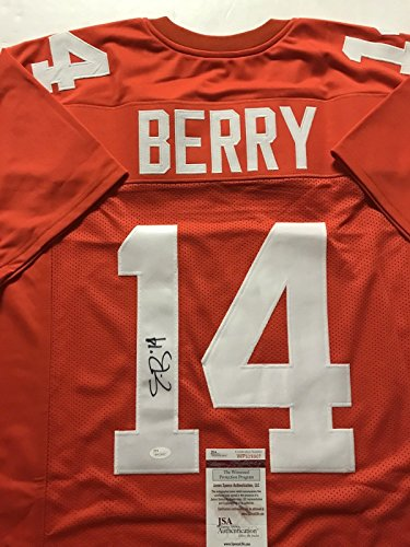 Autographed/Signed Eric Berry Tennessee Volunteers Orange Football Jersey JSA COA