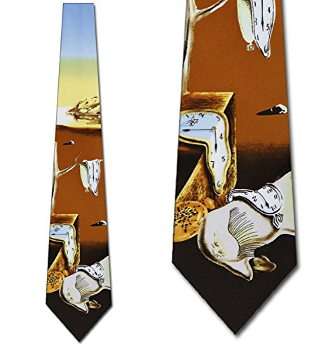 Time Warp Mens Ties Dali Neckties Art tie Art Necktie