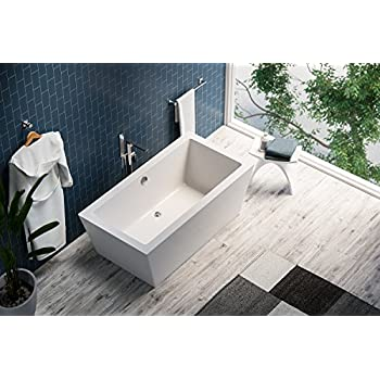 bathtub brand standing view soaking free oval inch white alfi front acrylic