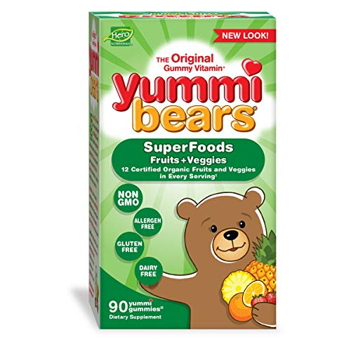 Yummi Bears Wholefood and Antioxidants Gummy Vitamins for Kids, 90 ()