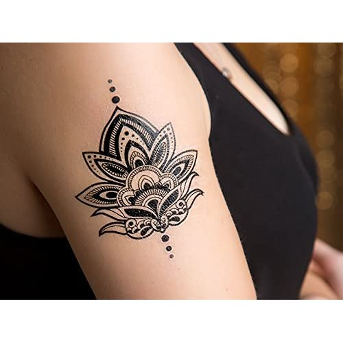 Henna Lotus Tattoo Set Of 2 High Quality S406263526 Onlinehome Us