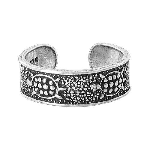 Gem Avenue 925 Sterling Silver Turtle Design Toe Ring for (Gem Avenue Toe Ring)