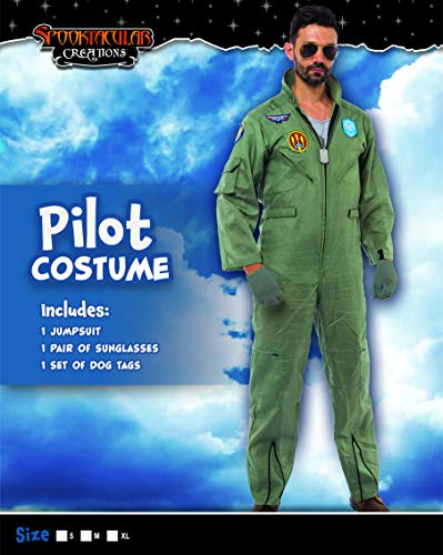 Spooktacular Creations Men's Flight Pilot Adult Costume with Accessory for Halloween Party (X-Large) - http://coolthings.us
