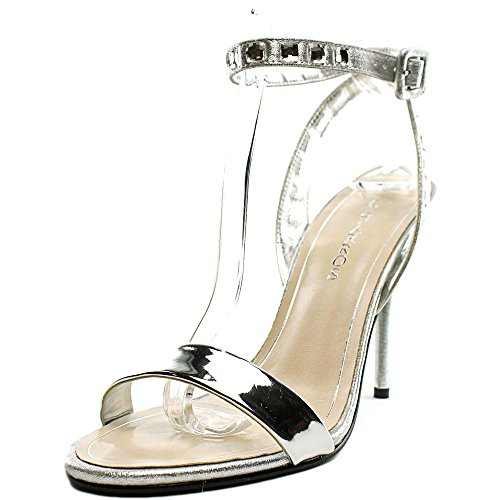 Caparros Womens Cassidy Open Toe Casual Ankle Strap Sandals Silver tpYgzMkUa