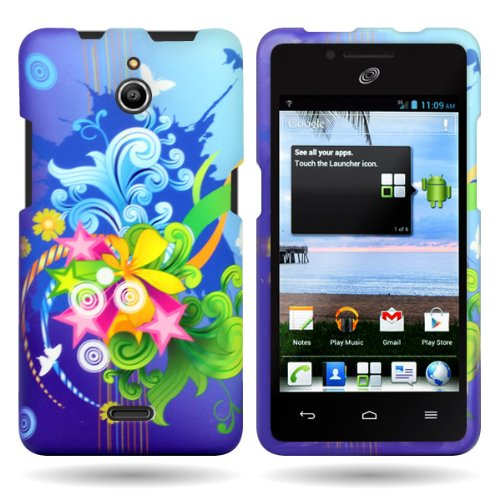 Huawei H881C Case, CoverON [Snap Fit Series] Hard Design Slim Protective Phone Cover Case for Huawei Ascend Plus H881C - Floral Burst]()