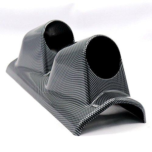 Parti per auto, Baccelli del calibro dell'automobile del pilastro delle linee del carbonio del doppio foro di 52mm come supporto del calibro di volt automatico di sinistra Zantec