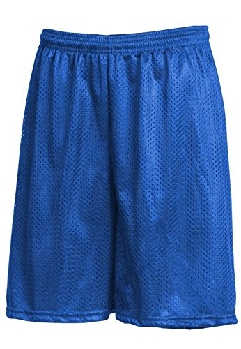 Hat and Beyond IH Men Mesh Shorts with Pockets Lightweight Plain Basketball Workout Jersey Fitness Gym (Large, 1ih01_Royal ()