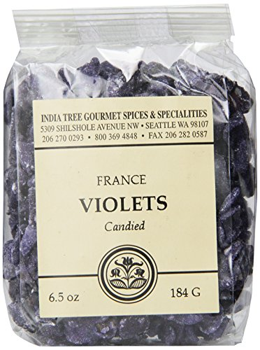 India Tree Candied Violets, 6.5 oz Pack