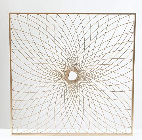 Winsome House Starburst Square 24″ Metal Wall Art